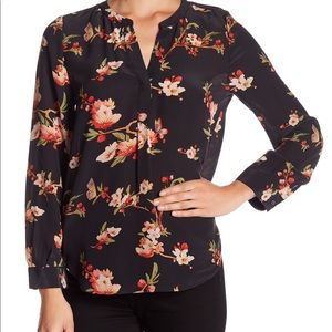 Joie Pearline Floral Popover Silk Blouse S